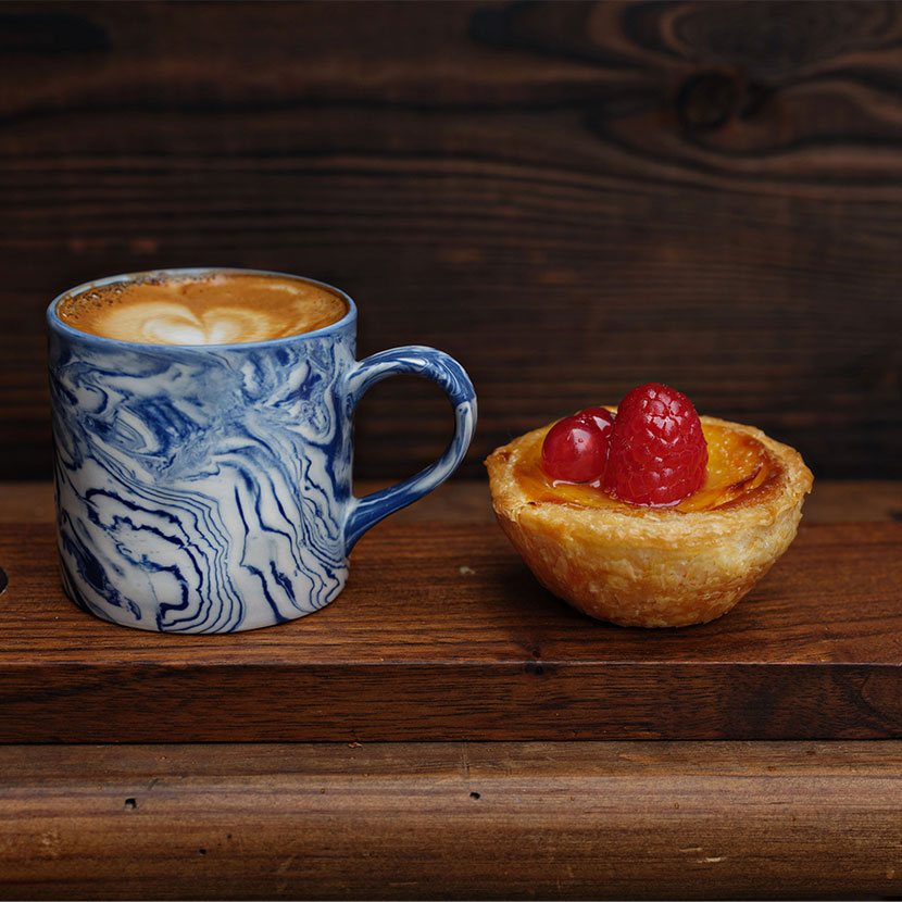 Coffee and Portuguese tart